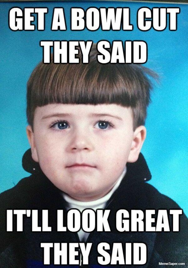Bowl hair cut