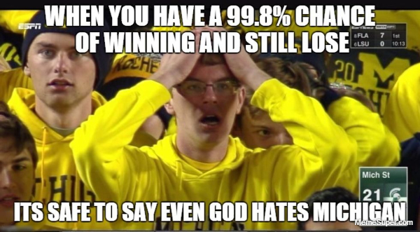 But being a University of Michigan fan can be just as frustrating.