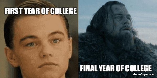 First year vs. Final year in college