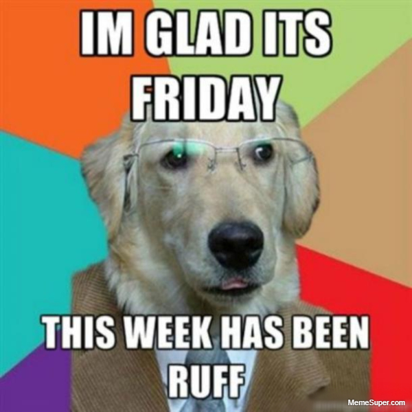 Friday Memes: Week has been ruff