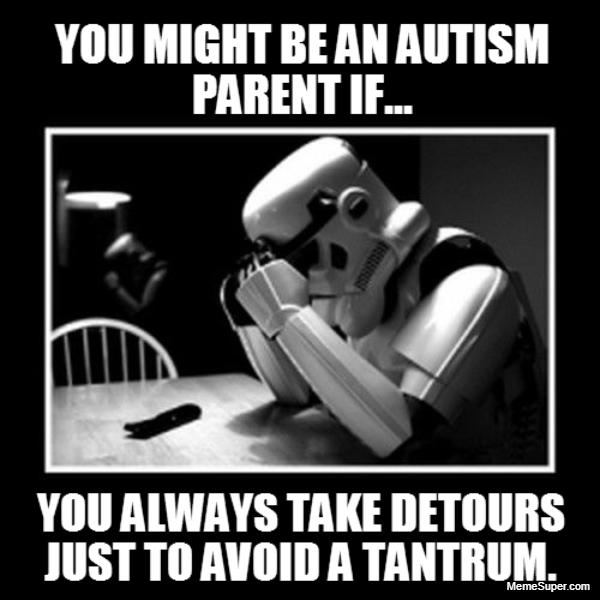 Funny Autism Parent avoiding trantrums