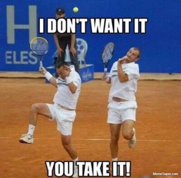 Take the tennis ball!