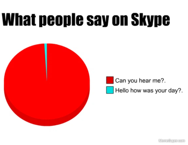 What people say on skype...