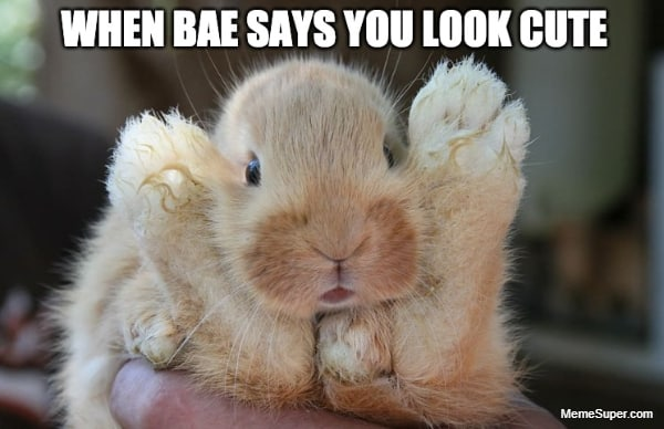 When Bae says you look so cute...