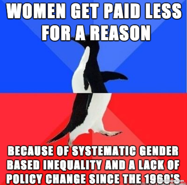 Women get paid less for a reason...